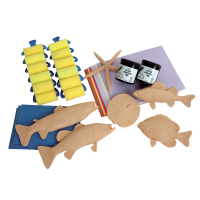 Sax Water Soluble Fish Print Classroom Pack - Assorted Size