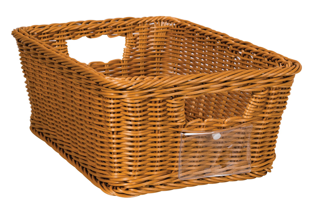 School Smart Medium Wicker Basket, Polypropylene