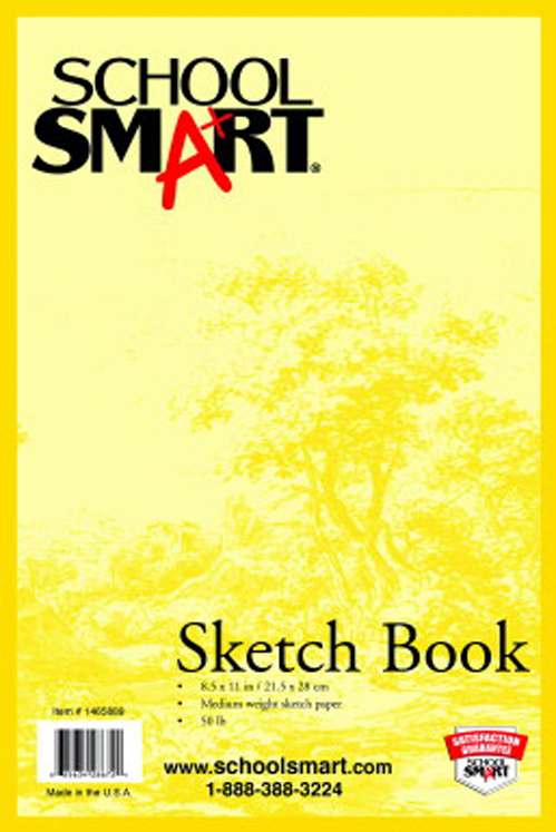 School Smart Wirebound Sketch Book - 50 Sheets