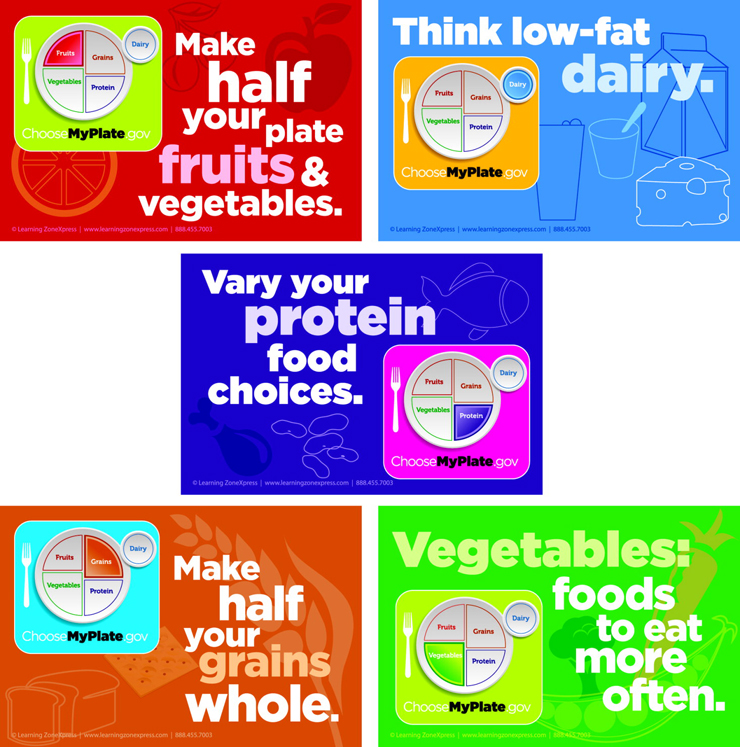 Learning ZoneXpress MyPlate Static Cling Set - Set of 10