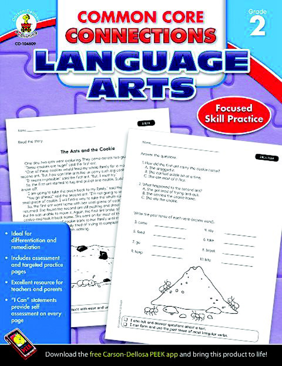 Common Core Connections Language Arts Workbook, Grade 2 - 96 Pages