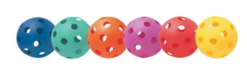 Balls - Plastic - Softball - Assorted Colors - Set of 6