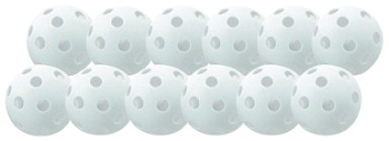 Balls - Plastic - Softball - White - Set of 12