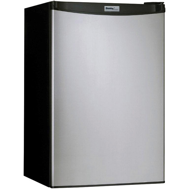Danby Compact Refrigerator - 4.4 Cubic Foot Capacity, Freezer and Button Defrost