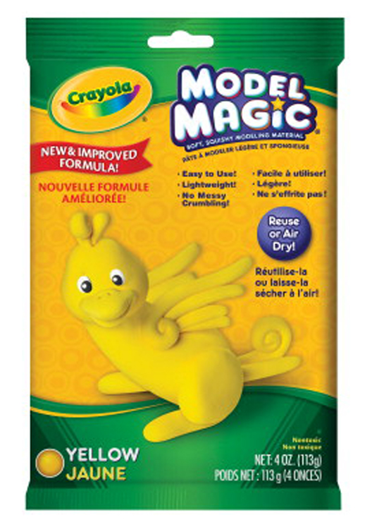 Crayola Model Magic Non-Toxic Mess-Free Modeling Dough, 4 oz, Yellow