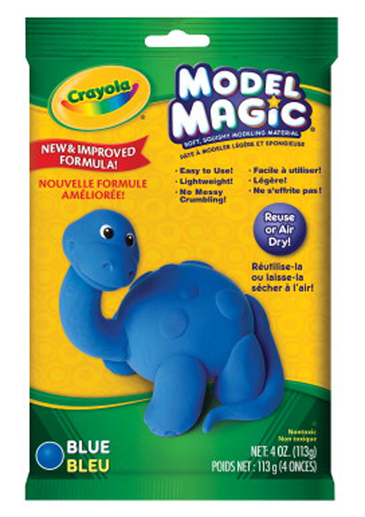 Crayola Model Magic Non-Toxic Mess-Free Modeling Dough, 4 oz, Blue