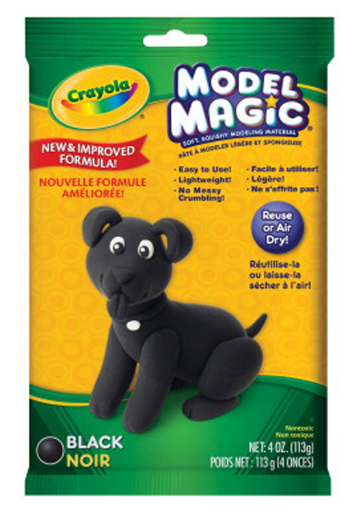 Crayola Model Magic Non-Toxic Mess-Free Modeling Dough, 4 oz, Black