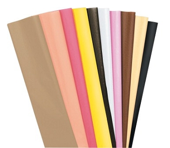 Kolorfast Multi-Cultural Non-Bleeding Tissue Paper - Assorted Color - Pack of 20