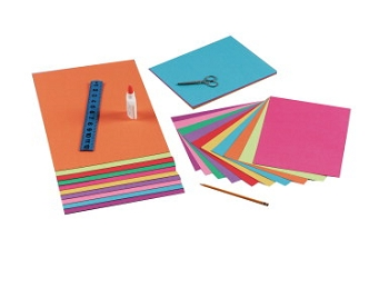 Tru-Ray 100% Vat Dyed Sulphite Acid-Free Non-Toxic Construction Paper - Assorted Bright Color - Pack of 50