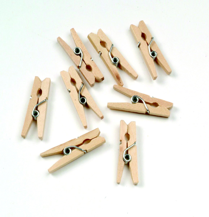Chenille Kraft Wood Tiny Spring Clothespin, 1