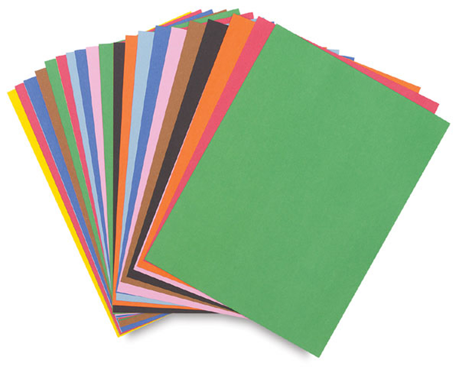 Riverside 100% Vat Dyed Groundwood Pulp Heavy Weight Recycled Construction Paper - Color Choices - Pack of 50