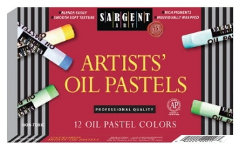 Sargent Art Non-Toxic Regular Oil Pastel - Assorted Color - Pack of 12