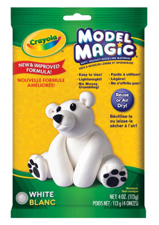 Crayola Model Magic Non-Toxic Mess-Free Modeling Dough, 4 oz, White