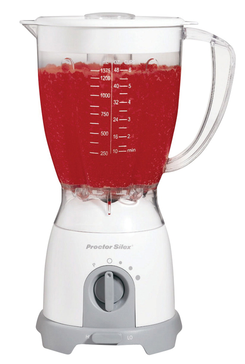 Proctor-Silex 8-Speed Blender, 48 Ounce Capacity, Stainless Steel, White