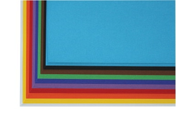Sax Heavy-Weight Art Paper - 100% Sulphite, 130 gsm - Assorted Color - Pack of 50