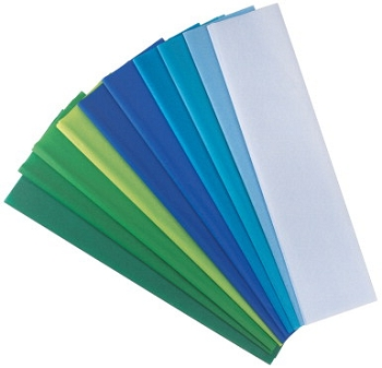 Spectra Deluxe Pacon Bleeding Art Tissue Paper Assortment - Assorted Cool Color - Pack of 20