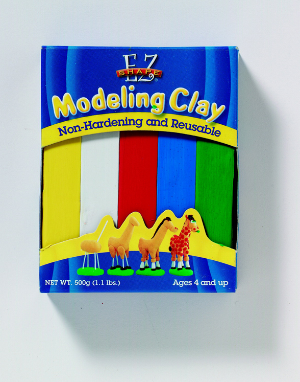 EZ Shape Non-Hardening Non-Toxic Reusable Wax-Based Modeling Clay, 1.1 lb - Assorted Primary Color - Pack of 5