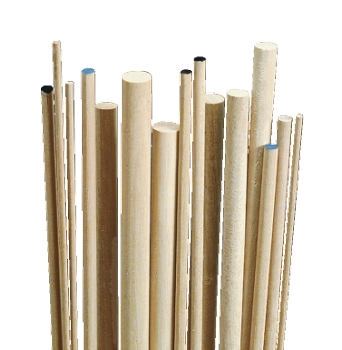 Chenille Kraft Wood Smooth Birch Dowel White - Pack of 10