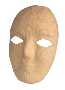 Chenille Kraft Papier-Mache Mask - Natural