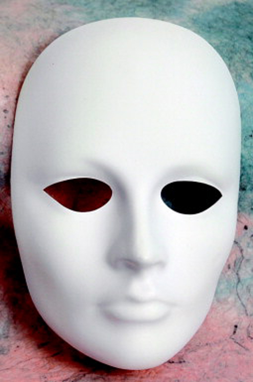 Chenille Kraft Plain Plastic Female Mask
