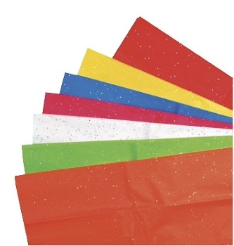 Kolorfast Non-Bleeding Glitter Tissue - Assorted Color - Pack of 14