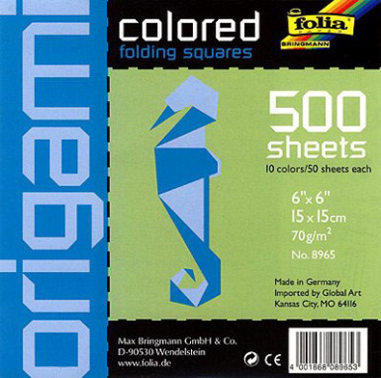 School Specialty Economy Square Origami Paper School Pack - Assorted Color - Pack of 500