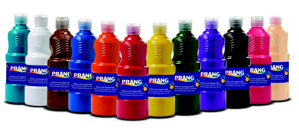 Multiple Colors Prang Non-Toxic Ready-to-Use Liquid Tempera Paint, 1 pt Squeeze Bottle