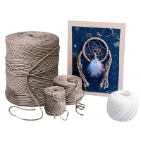 School Specialty 100% Jute 3-Ply Twine - Natural