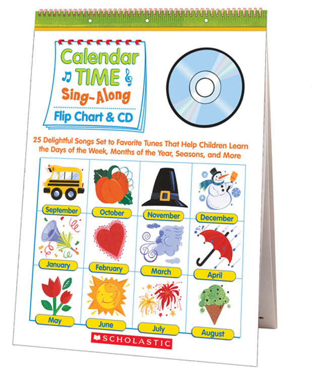 Sing-Along Flip Chart and CD - Calendar Time
