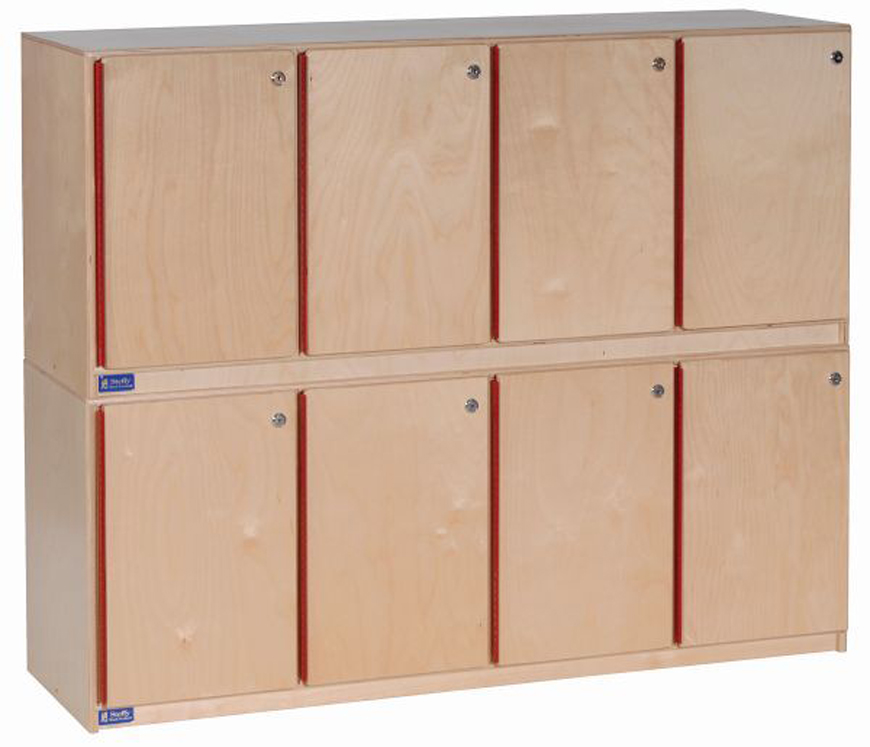 Stackable Lockers for 4 - 2 Sets of 4 Shown