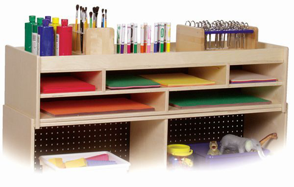 Five Section/2-Shelf Organizer with Top Storage