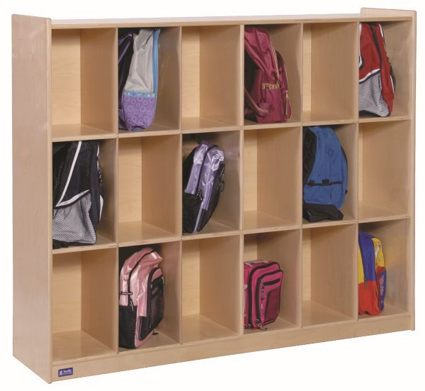 18 Section Mobile Locker, 60''w x 18''d x 44''h