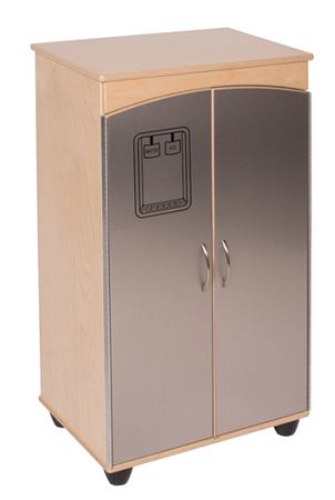Contemporary Stainless Steel Look Refrigerator