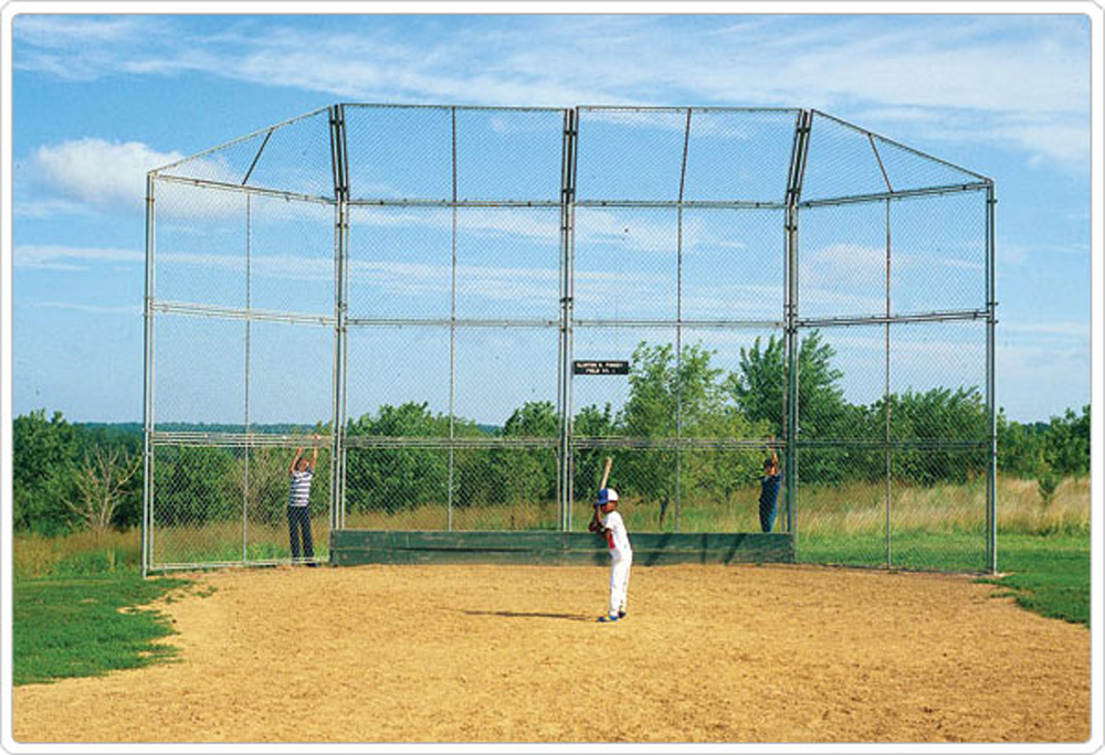 Baseball Backstop Prefabricated Panel with Hood