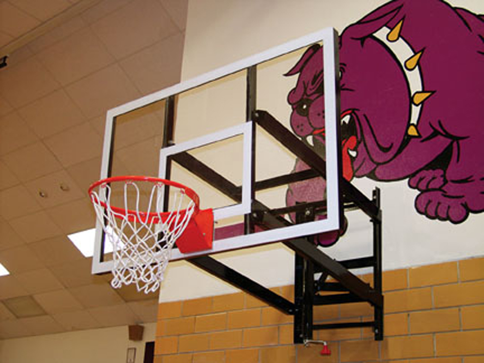 Wall Mount Basketball Set