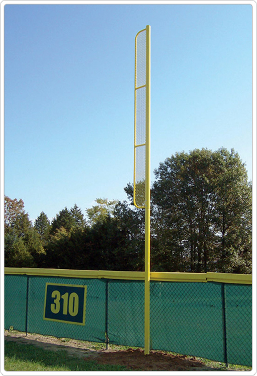 Foul Pole with Wing(Pair), 20' High