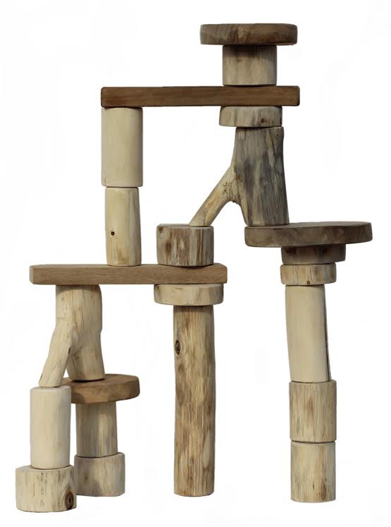 Bark-Less Tree Blocks - 21 piece