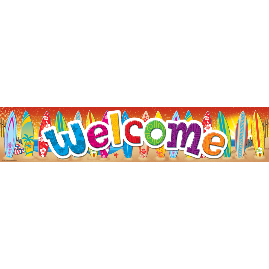 Surf's Up - Welcome Banner
