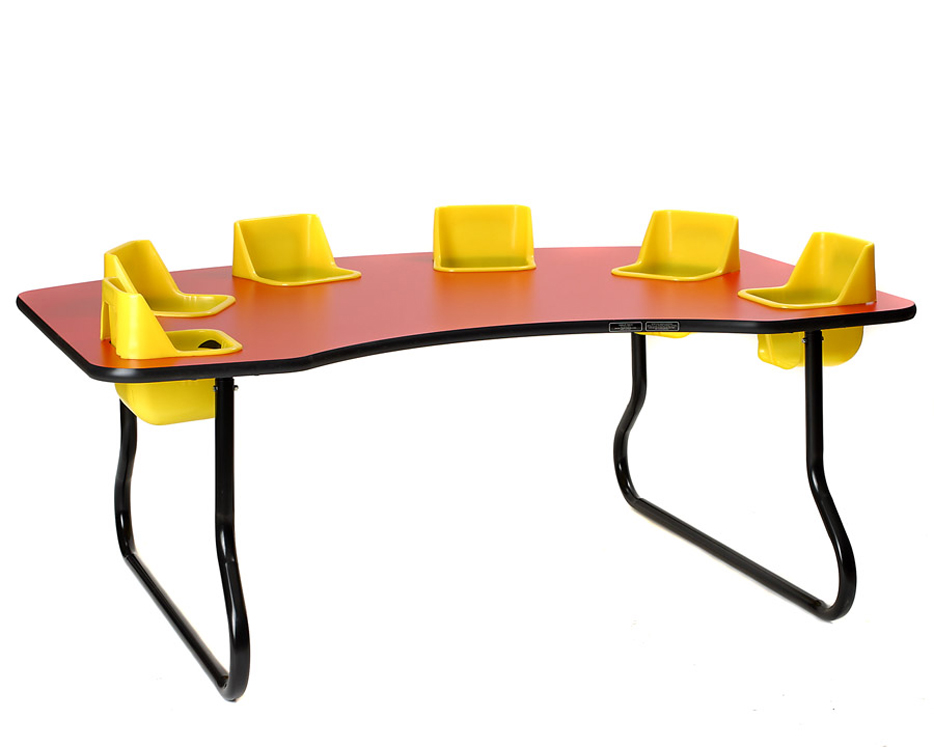 6 Seat Toddler Table, 14