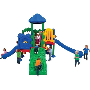 Discovery Range Commercial Playground - Primary Colors