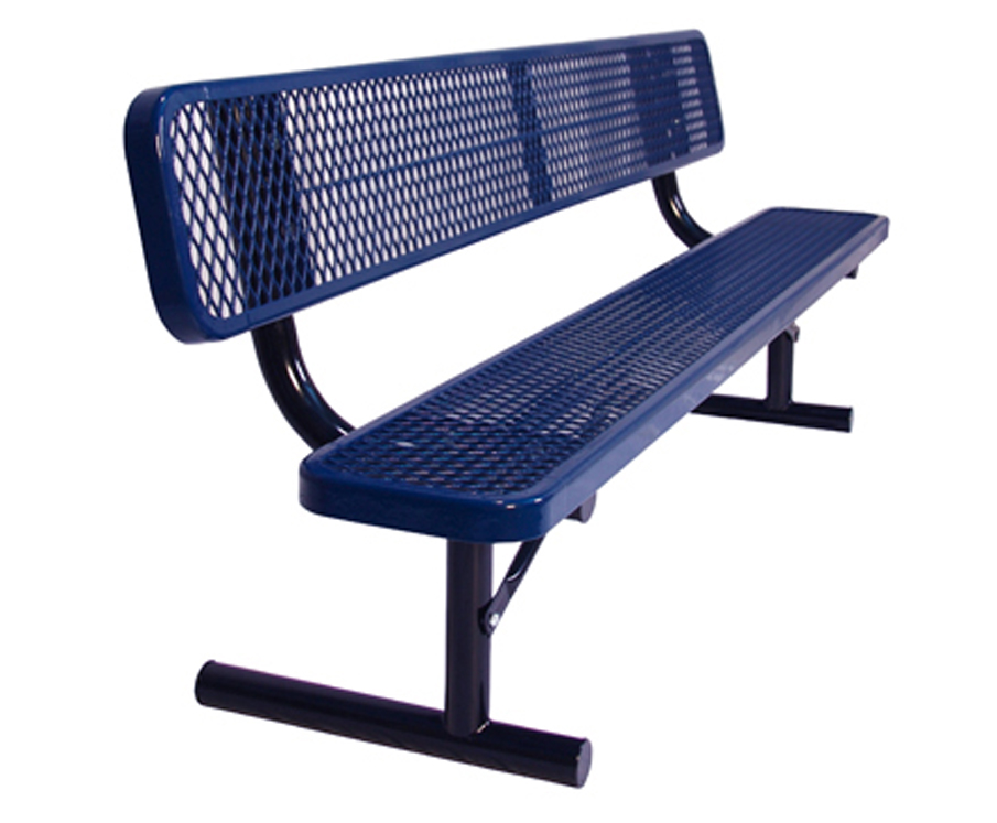 Portable Standard Size Park Bench with Back