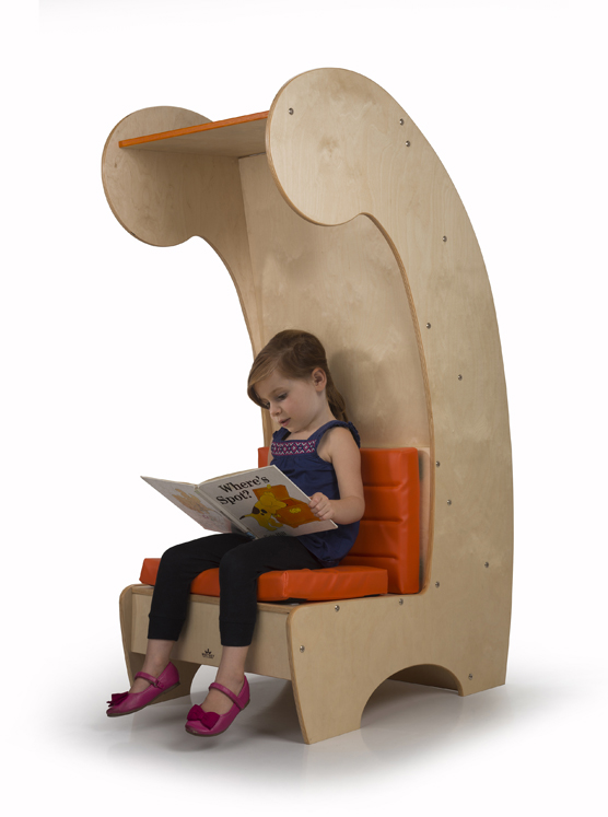 Contemporary Reading Chair - Bookcase
