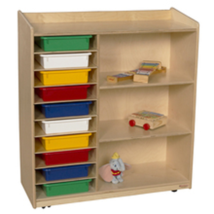 Sensorial Discover Shelving with Assorted Trays