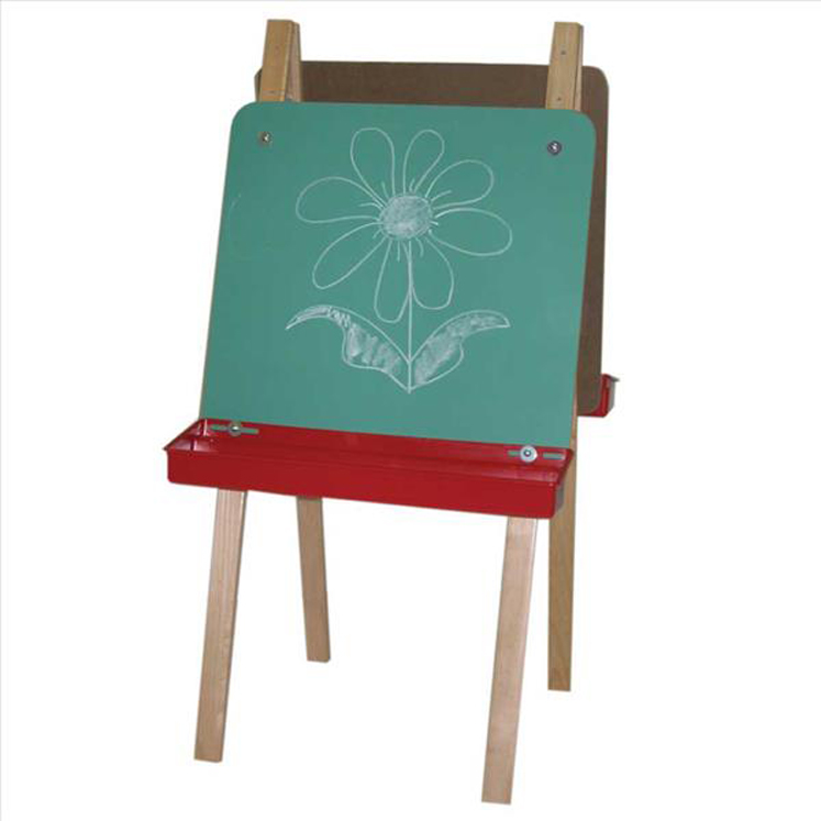 Double Adjustable Easel with Chalkboard