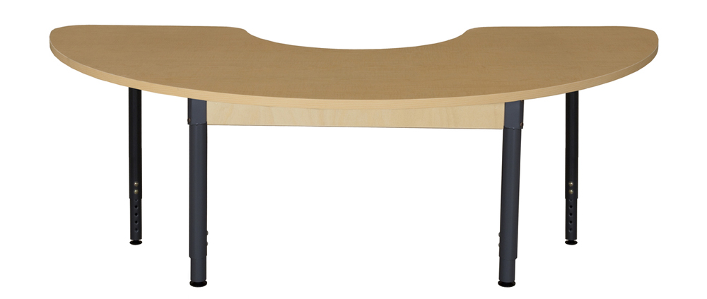 Half Circle high Pressure Laminate Table with Adjustable Legs