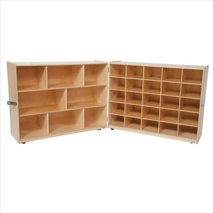 Tray and Shelf Folding Storage without Trays