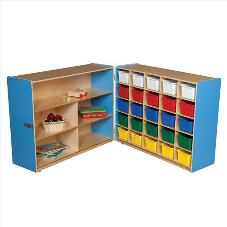 Tray and Shelf Fold Storage with (25) Assorted Trays