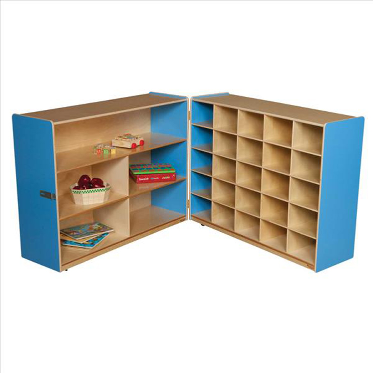 Tray and Shelf Fold Storage without Trays