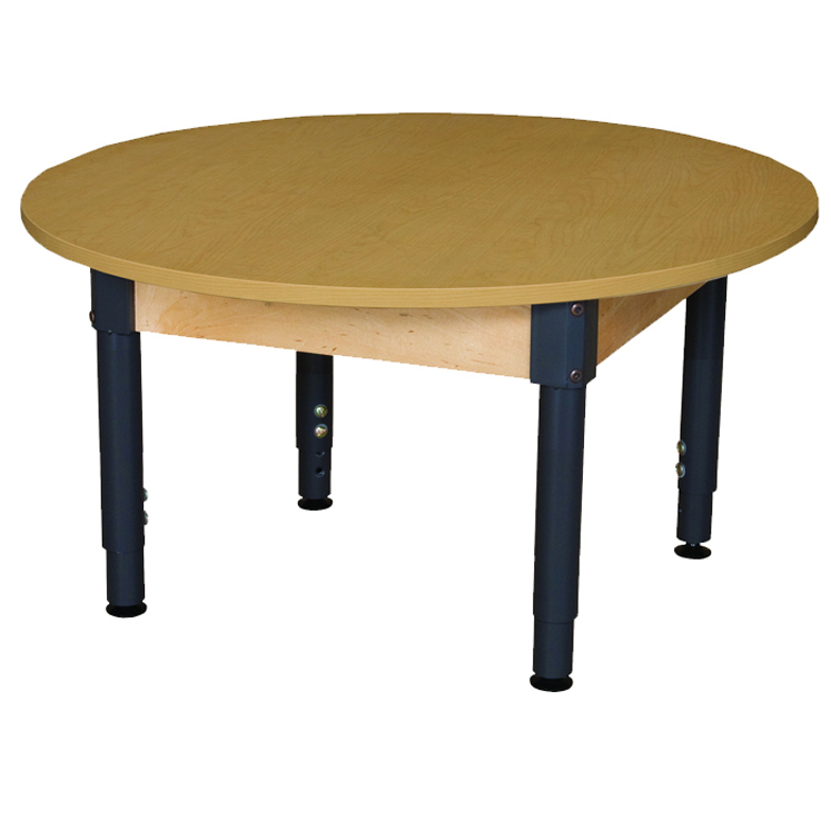 Round High Pressure Laminate Table with Adjustable Legs