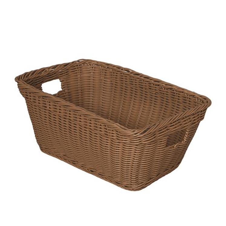 Plastic Wicker Basket, 12-5/8''W x 8-3/4''D x 5-1/2''H